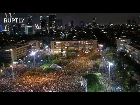 شاهد الآلاف يحتجون على تعامل الحكومة الإسرائيلية مع عواقب كورونا الاقتصادية