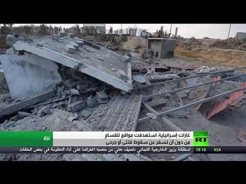 شاهد غارات إسرائيل على مواقع لحماس بقطاع غزة