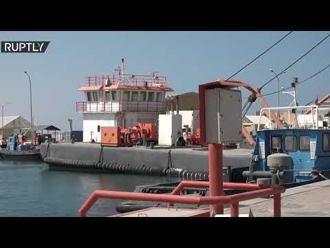 شاهد  ميناء رأس لانوف النفطي في ليبيا بعد إعلان حفتر رفع الحصار عنه