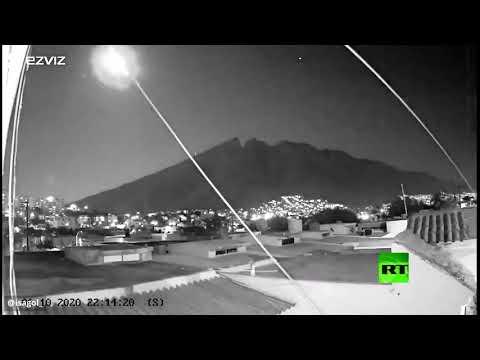 شاهد كاميرات المراقبة تُسجّل لحظة سقوط نيزك في المكسيك