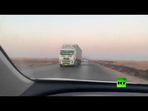 شاهد عربات ومصفحات عسكرية تتوجه نحو القواعد الأميركية في سورية