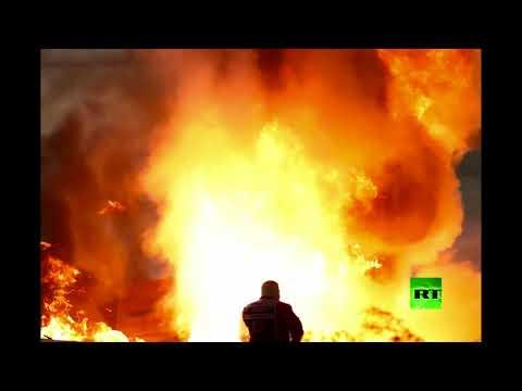 شاهد لقطات من حادث مروع لسيارة غروجان أثناء سباق البحرين لبطولة فورمولا1