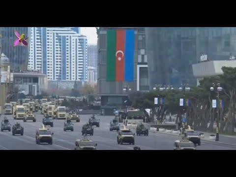 أردوغان يشارك في عرض عسكري ضخم في باكو عاصمة أذربيجان