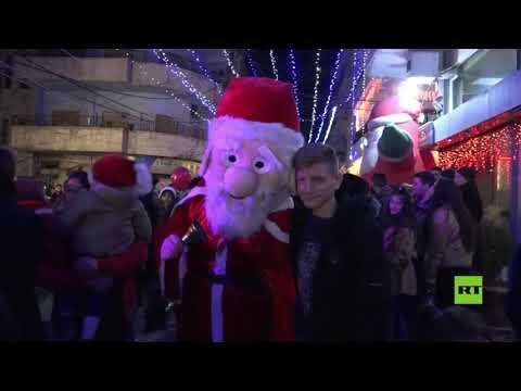 شاهد  القامشلي السورية تستعد للاحتفالات بعيد الميلاد