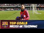 المغرب اليوم  - بالفيديو أفضل أهداف ليونيل ميسي في التدريبات هذا الموسم