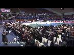 شاهد رفع علم فلسطين في قاعة مؤتمر البيجيدي