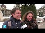 شاهد موجة جديدة من الثلوج تجتاح فرنسا